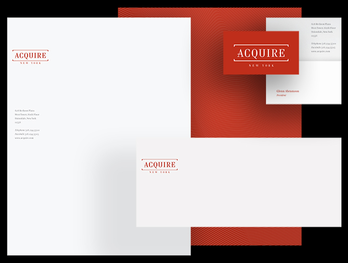 Acquire New York stationary