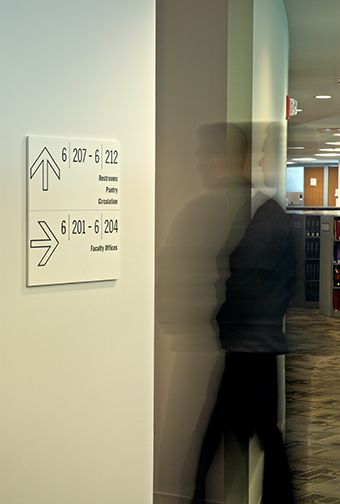 CUNY School of Law Auditorium Directional Wayfinding