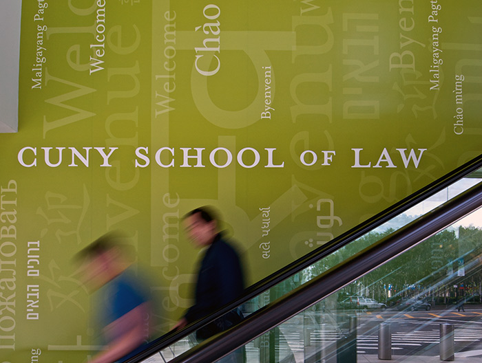 CUNY School of Law Typographic Mural