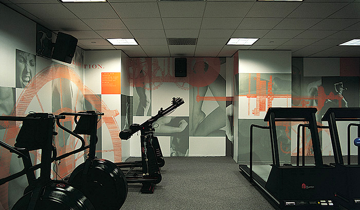 Sony Health and Fitness mural