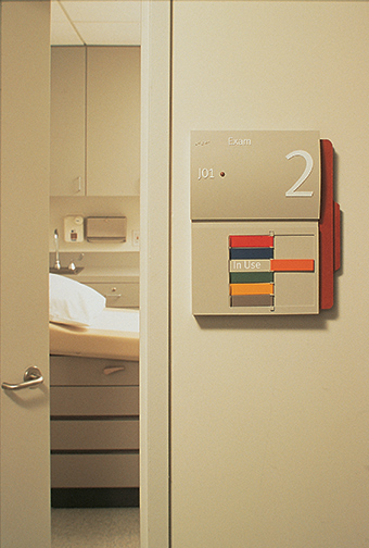 The Saint Vincents Comprehensive Cancer Center patient room identification