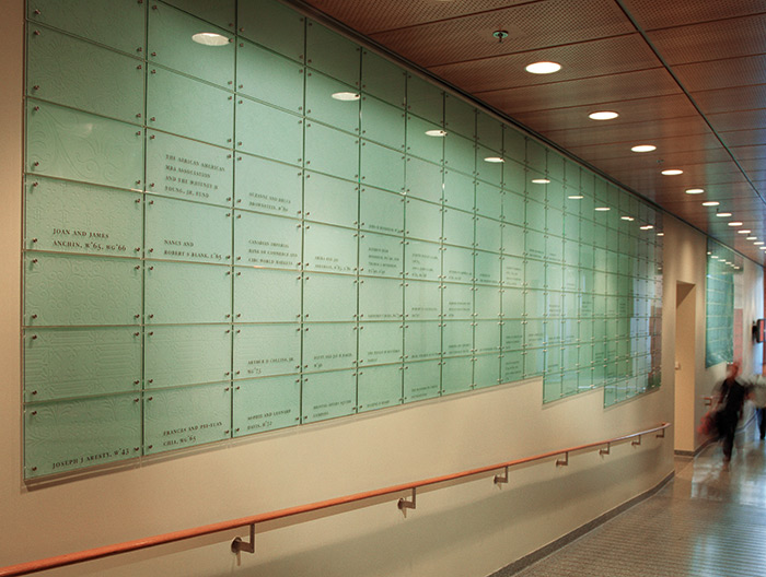 Wharton School of Business donor wall