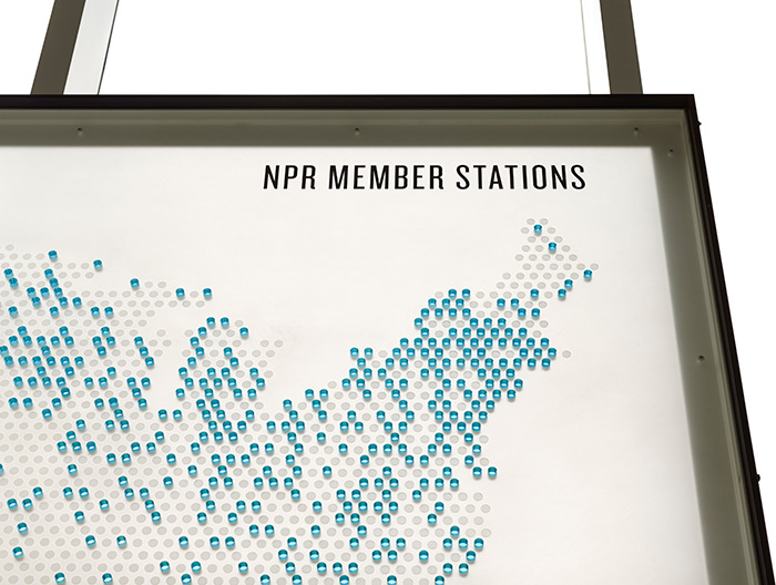 NPR Headquarters Lobby network map detail