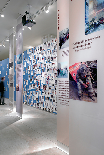 World Trade Center exhibition gallery panels