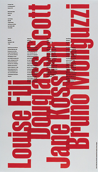 Cooper Union Lecture poster