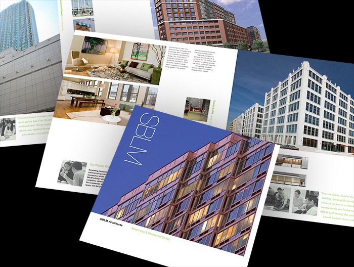 SBLM Architects print brochures